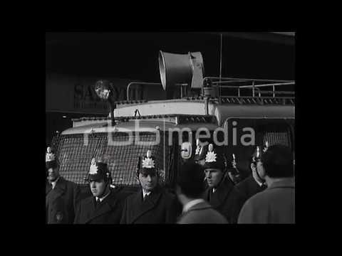 Auseinandersetzung zwischen Polizei und Demonstranten, 1968