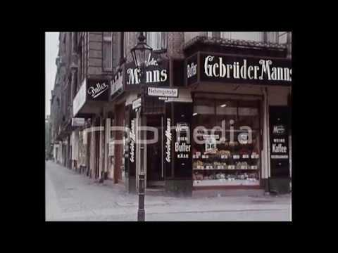 Historic facades and concrete buildings in West-Berlin, 1968